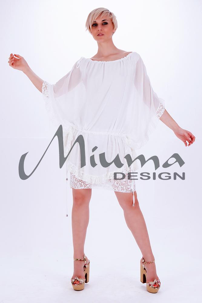 Vestido corto miuma fiorela blanco-f