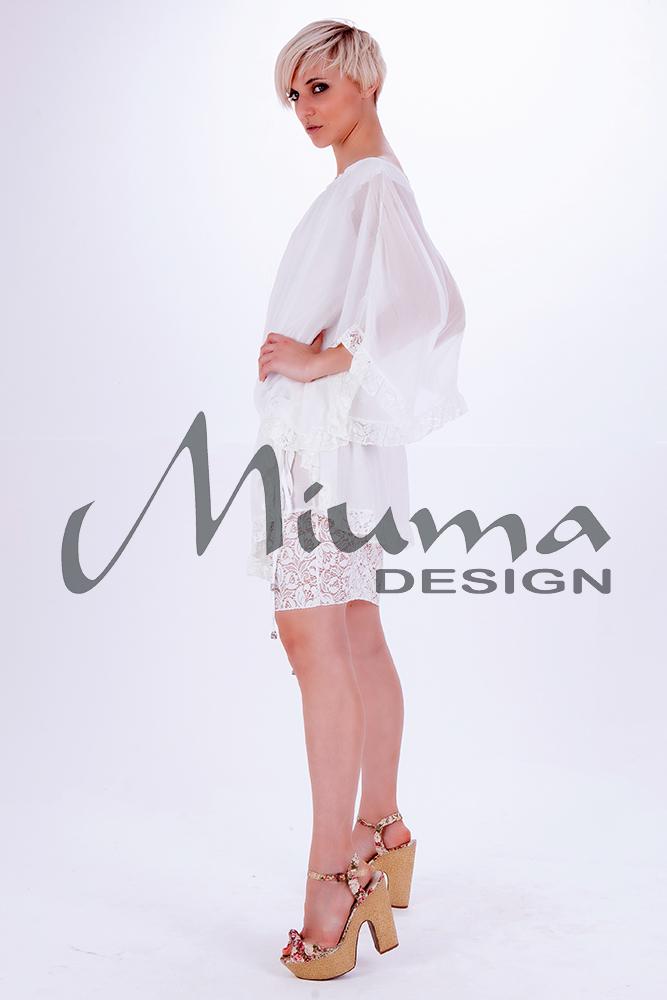 Vestido corto miuma fiorela blanco-l
