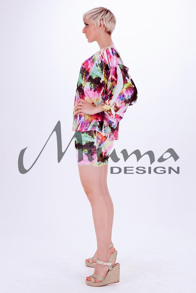 Vestido corto miuma luana f.l rosa 1-l
