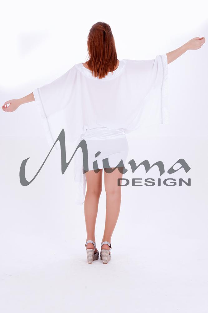 Vestido corto miuma lula blanco-e