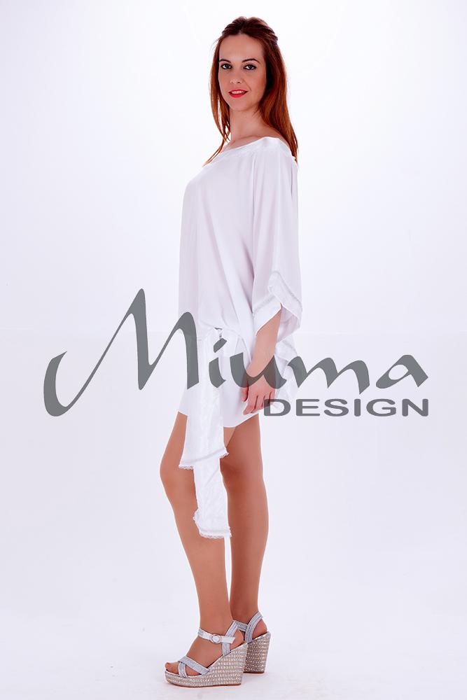 Vestido corto miuma lula blanco-l