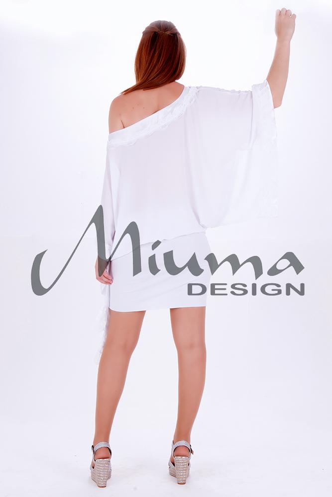 Vestido corto miuma lula f.l blanco-e