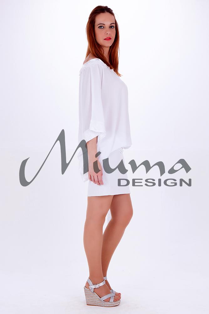 Vestido corto miuma lula f.l blanco-l