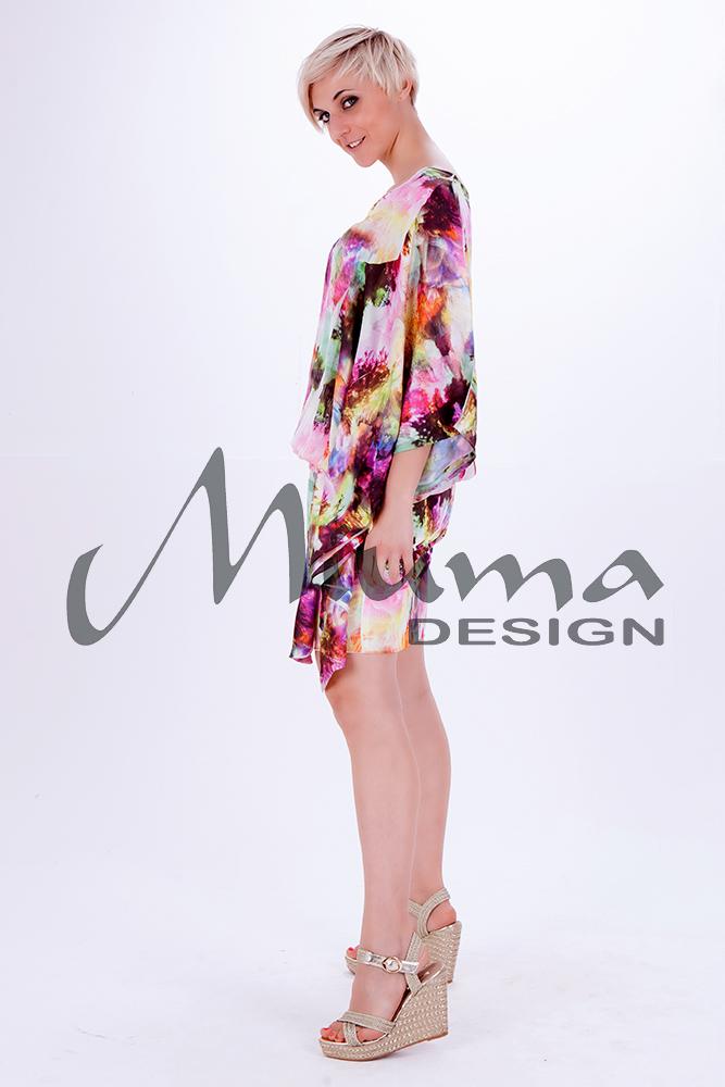 Vestido corto miuma lulamur rosa 1-l