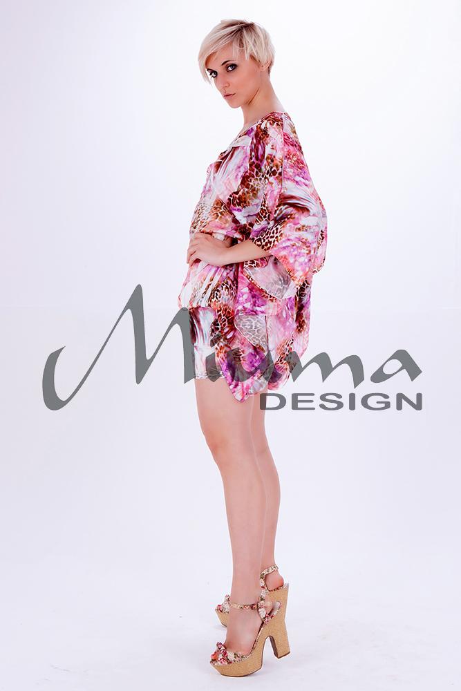 Vestido corto miuma vanina f.l rosa 23-l